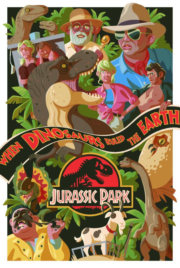 Poster de Jurassic Park para Principia Magazine